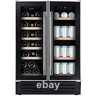 Hoover HWCB60DUK Wine Cooler Freestanding 38 Bottle 60cm Black-new boxed