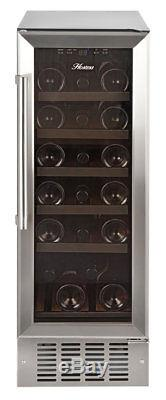 Hostess HW19MA 30cm Wide 19 Bottle Wine Cooler Stainless Steel Built in