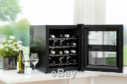 Husky HN5 Reflections Mini Table Top Wine Bottle Chiller Cooler Black