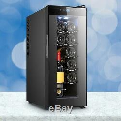 IceMaster 12 Bottle Wine Cooler Beverage Drinks Fridge Tempered Glass 63x25x50cm