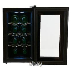IceQ 8 Bottle Mini Tabletop Thermoelectric Wine Cooler
