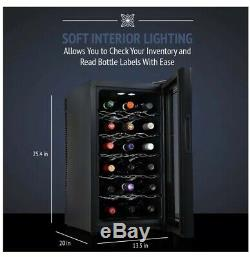 Ivation Premium Stainless Steel 18 Bottle Thermoelectric Wine Cooler/Chiller