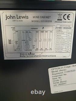 John Lewis JLWF303 19 Bottle Under Counter Wine Cooler RRP £459