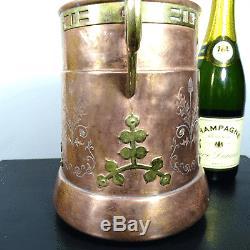 Jugendstil Wein Champagner Kühler Wine Bottle Ice Cooler BING Nürnberg um 1900