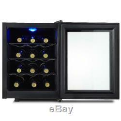 Kalamera 12 Bottles Freestanding Touchscreen Wine Cooler, Wine Fridge Mini