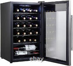 Kalamera 24 bottle Freestanding Small Wine Cooler/fridge LED 5-18°C black