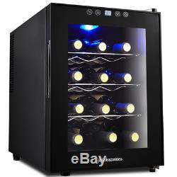 Kalamera KR-12AJPE 12 Bottles Freestanding Touchscreen Wine Cooler, Wine fridge