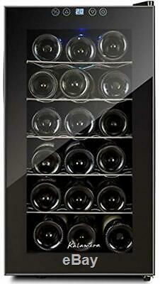 Kalamera KR-18AJPE 18 Bottles Freestanding Touchscreen Wine Cooler