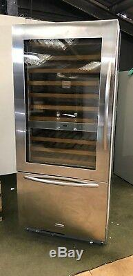 KitchenAid 20900L wine cooler Built-in Stainless steel 81 bottles A+