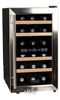 Koldfront Double zone wine cooler (18 bottles), Stainless steel