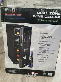 Koolatron WC12DZ Dual Zone Thermoelectric Wine Cellar Cooler 12 Bottle Capacity