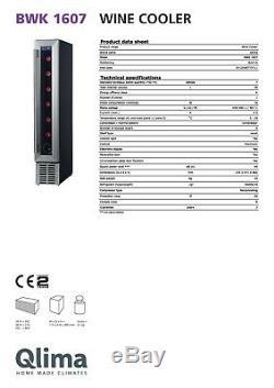 Kühlschrank Fridge QLIMA BWK1607 Energy Class A Wine Case Cooler 7 Bottles