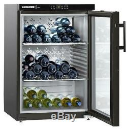 LIEBHERR WKB1812-21 Wine Cooler 2 Shelves 66 Bottles Fridge Black
