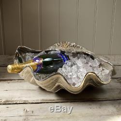 Large Wine Bottle Holder Seashore Clam Shell 2 Bottle Cooler