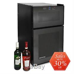 Large Wine Cooler Fridge By Klarstein 24 Bottles Capacity Twin Refridgerator