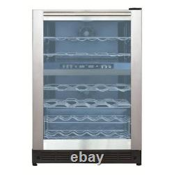 Magic Chef 44 Bottle Dual Zone Wine Cooler in Stainless Steel Beverage Storage