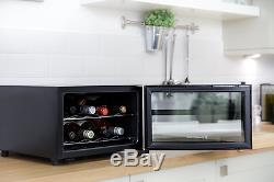 Mini Bar Wine Bottle Drinks Chiller and Cooler- Counter Table Top Fridge Party