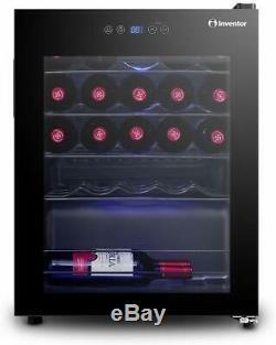 Modern Party Champagne Bottle Wine Cooler 66L Fridge Bar 24bottles Digital Temp