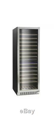 Montpellier WS166DDX, 166 Bottle Dual Zone Wine Cooler in Stainless Steel