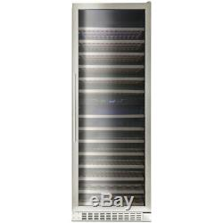 Montpellier WS181DDX, 181 Bottle Dual Zone Wine Cooler in Stainless Steel
