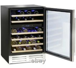 Montpellier WS46SDX, 46 Bottle Dual-Zone Wine Cooler in Black