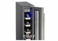Montpellier WS7SDX 15cm Slimline 7 Bottle Wine Cooler in Stainless Steel