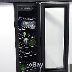 MyAppliances REF29617 30cm White & S/Steel Wine Cooler- 18 bottle capacity