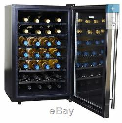 NEW Wine Cooler Chiller Bottle U Rack Stainless Steel Enthusiast 28 Line Storage