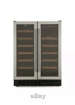 New Cda 60cm Fwc624ss Wine Cooler 40 Bottles Dual Temperature Stainless Steel 02