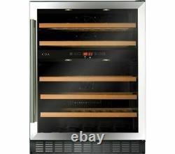 New Cda Fwc604ss 60cm Wine Cooler Dual Zone 46 Bottle Capacity Stainless Steel
