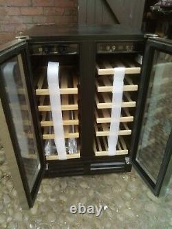 New Graded Black Hoover 38 Bottle Double Door Wine Cooler -uk Delivery