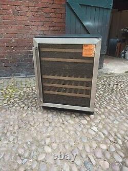 New Graded Black/stainless Steel Bush 46 Bottle Dual Zone Wine Cooler -uk Del