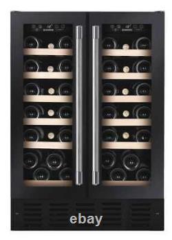 New Hoover HWCB60DDUKBM Black 60cm 38 Bottle Wine Cooler COLLECTION