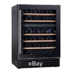 New Hoover HWCB60UK 60cm Black Integrated 46 Bottle Wine Cooler Fridge -DELIVERY