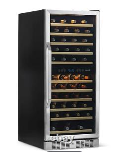 NewAir 27 Built-in 116 Bottle Dual Zone Compressor Wine Fridge Stainless cooler