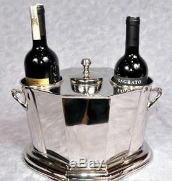 Nickel Plate Wine Cooler Bucket Ice Bucket Holds 2 Bottles