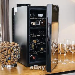 Ovation Dual Zone Wine Bottle and Drinks Thermoelectric Cooler Fridge 18 Bottle