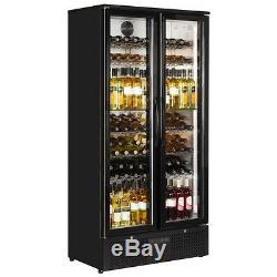 Pd220t New 2 Door Back Bar Beer Wine Cooler Pub Bottle Fridge Free Delivery