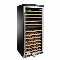 Polar Dual Zone Wine Cooler Black Finish 180W 12 Shelves 90 Bottles