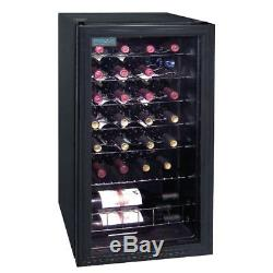 Polar Wine Cooler 28 Bottles Drinks Chiller Refrigerator Commercial Bar Black