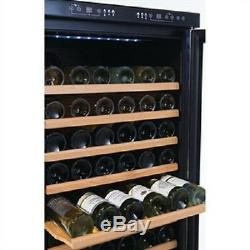Polar Wine Cooler Fridge Chiller Dual Zone 155 Bottles CE218 Catering Hinged