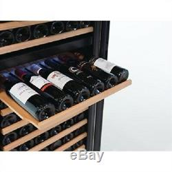 Polar Wine Cooler Fridge Chiller Dual Zone 155 Bottles CE218 Catering Hinged