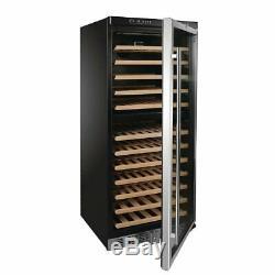 Polar Wine Cooler Fridge Chiller Dual Zone 92 Bottles CE217 Commercial Display