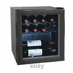 Polar Wine Cooler in Black for Champagne Beverage 11 Bottles Painted Steel