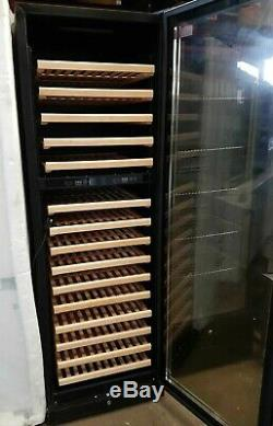Professional Wine Cooler 157 Bottles Touch Control Panel Glass Door Fridge
