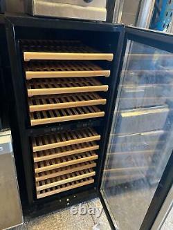 Professional Wine cooler Dual zone 111 bottles Glass Door Wine Chiller