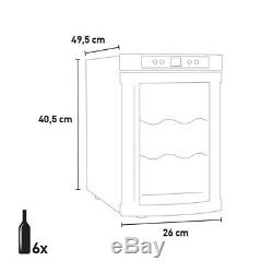 Professional wine cooler fridge 6 bottles Bacchus VI