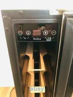 REDUCED! Amica AWC150SS 15cm Stainless Steel 6 Bottle Freestanding Wine Cooler