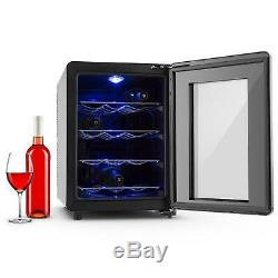 Refurb. Klarstein 12 Bottle Wine Cooler Fridge Beverage Storage 33l Glass Door