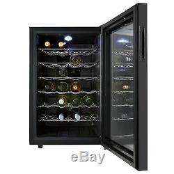 Refurbished Thermoelectric Wine Cooler, Cookology CW28BK 28 Bottle